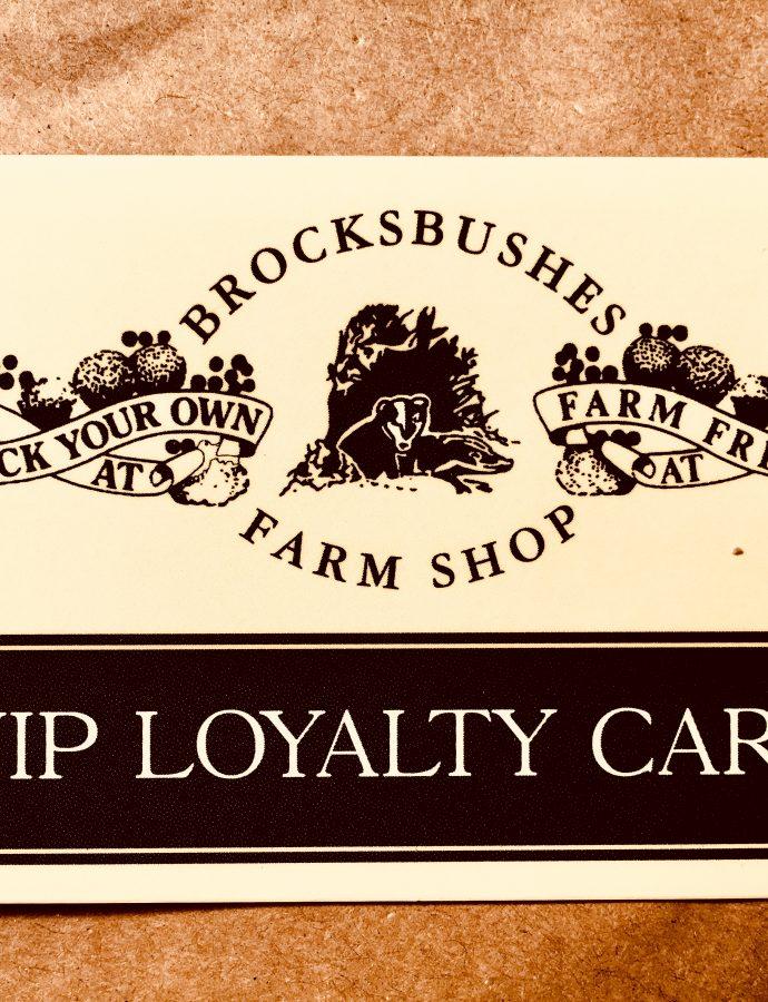 Brocksbushes Loyalty Card