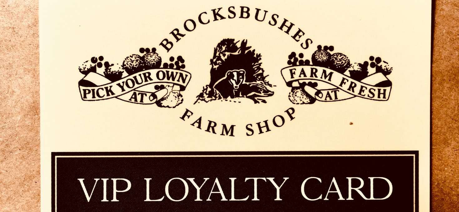 Brocksbushes Loyalty Card