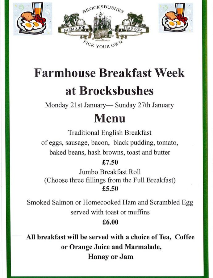 Farmhouse Breakfast Week