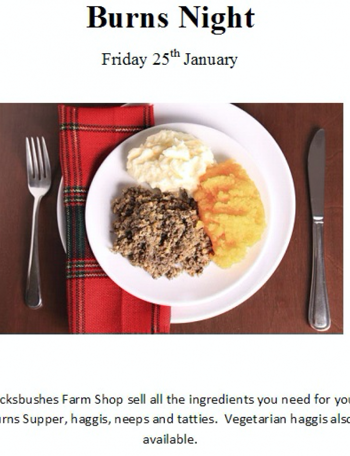 Celebrate Burns Night with Brocksbushes!