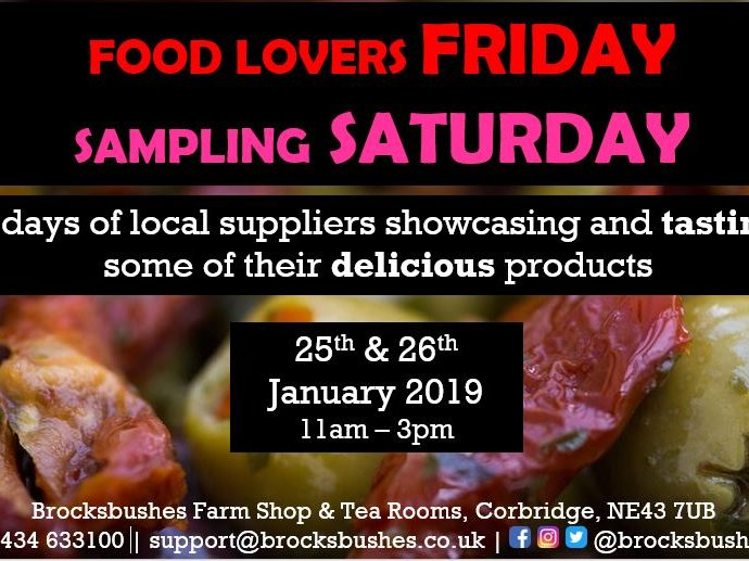 Food Lovers Friday & Sampling Saturday!